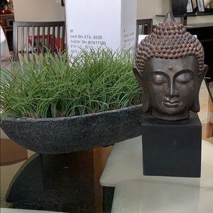 Thai Buddha Head Wooden Statue NEW